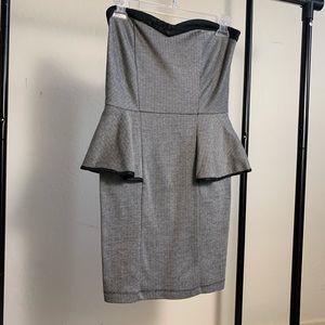 PEPLUM STRAPLESS DRESS ♡